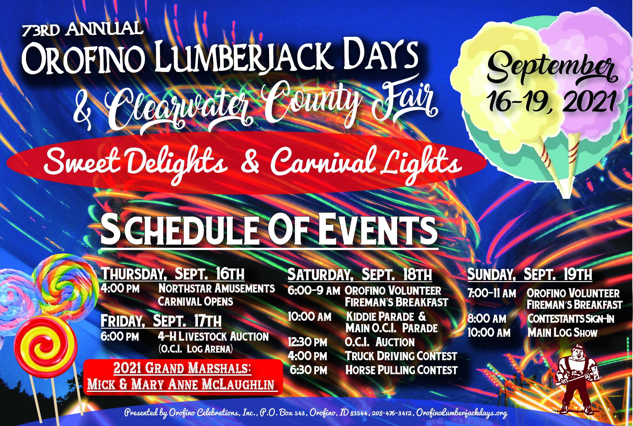 2021 Lumberjack Days Poster