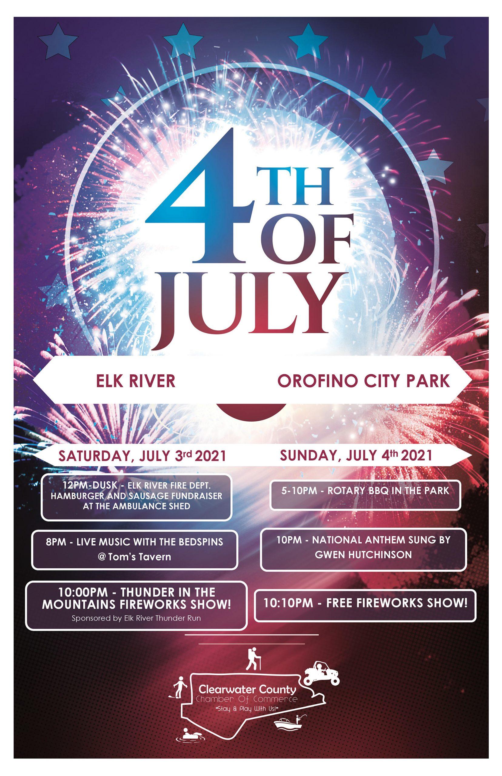 2021 4th of July Orofino Poster