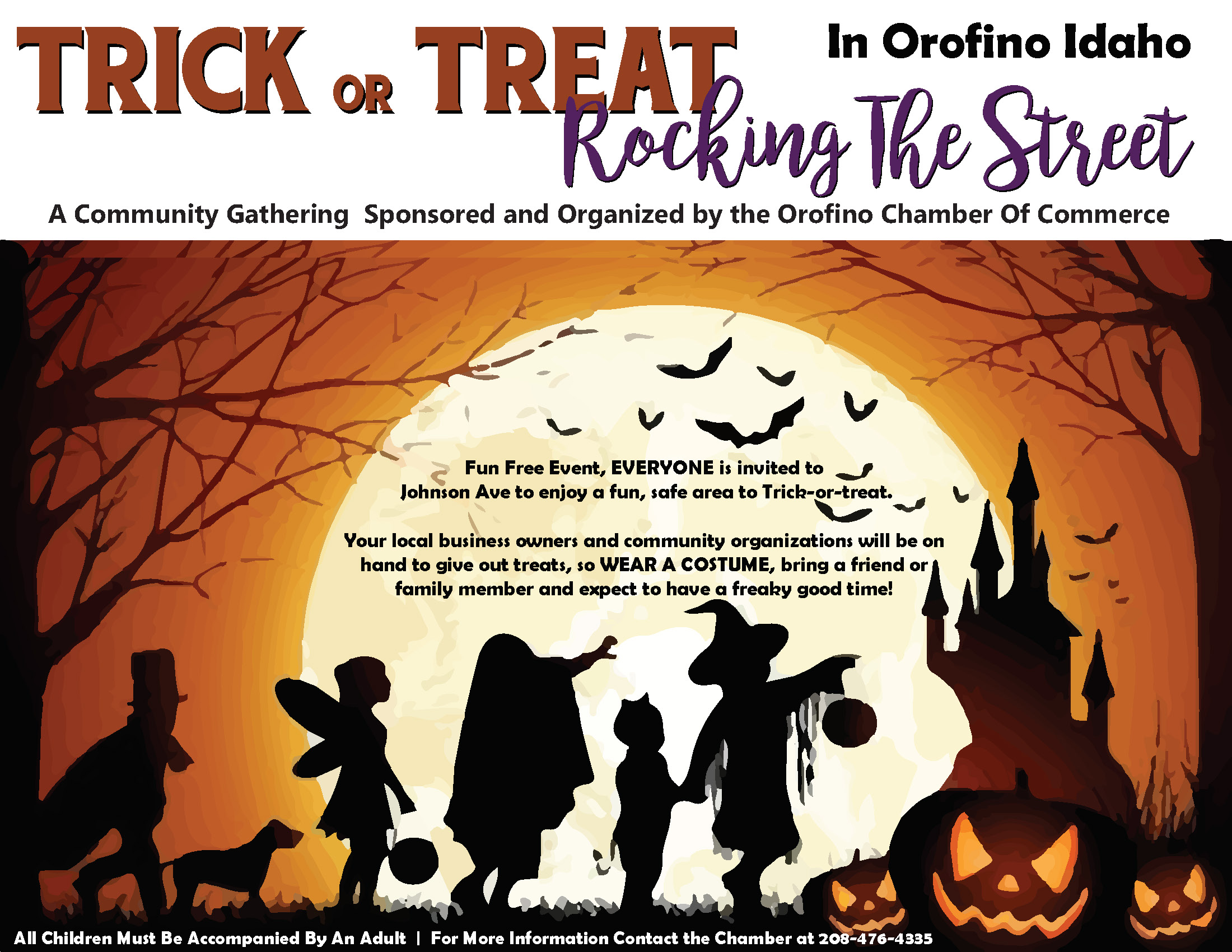 Trick Or Treat Rocking The STreet Poster