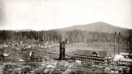 Elk River, Idaho had the first all-electric saw mill, built in 1912.