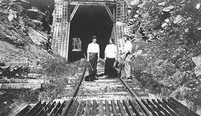 First railroad above Orofino