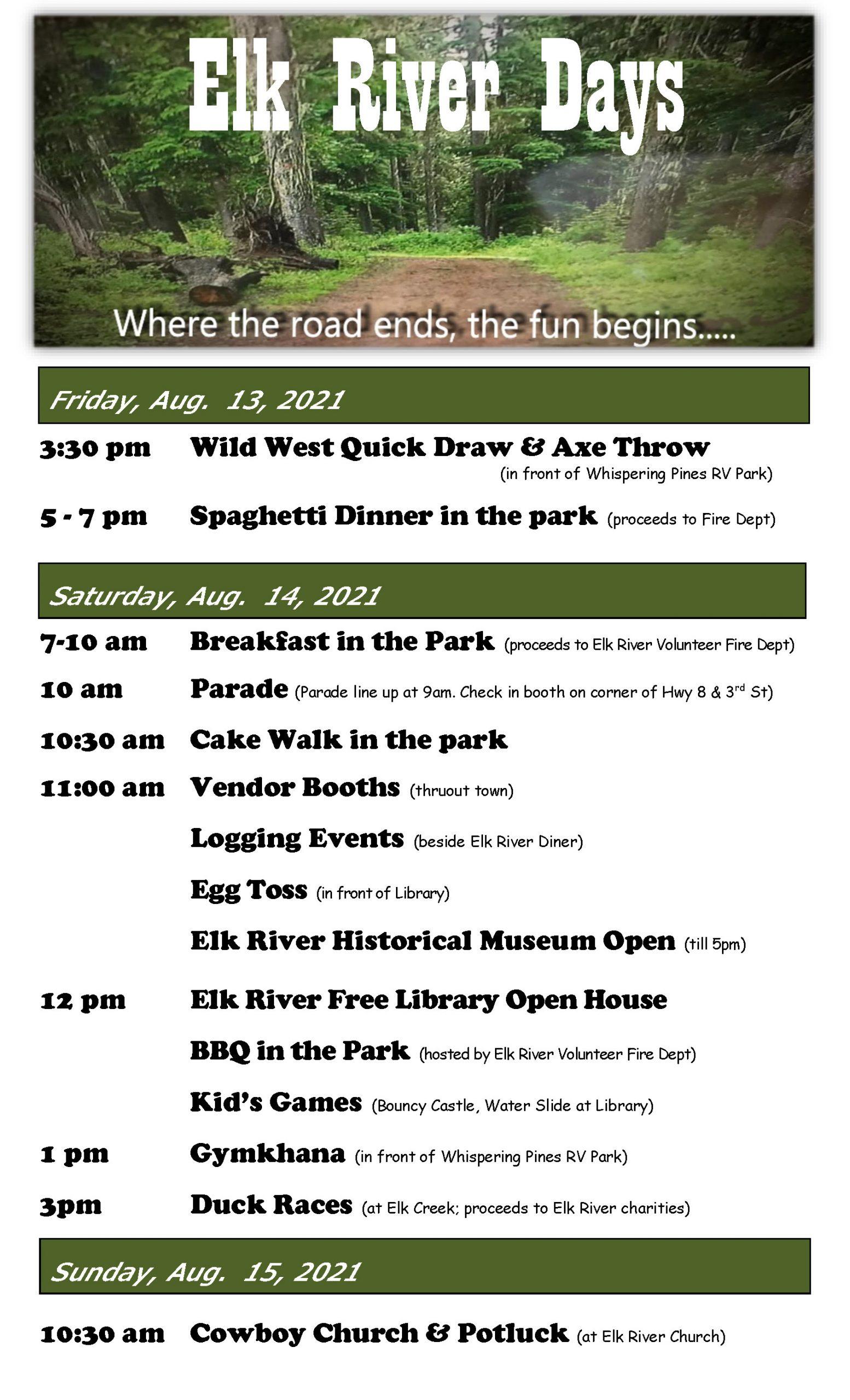 Elk River Days 2021 Poster